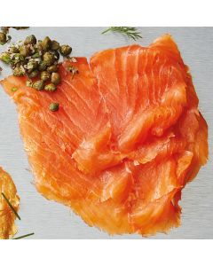 Bleiker's Whole Royal Fillet of unsliced oak-smoked Scottish salmon.
