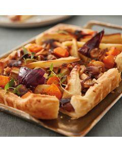 Booths Roasted Parsnip, Chestnut & Butternut Squash Tart