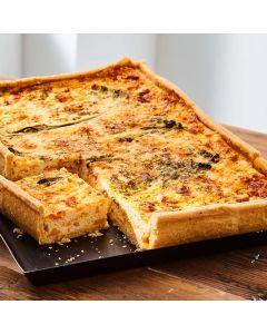 Toppings Rectangle Oak Smoked Salmon, Ricotta & Broccoli Quiche 1.3kg