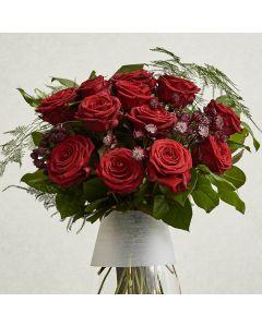 Dozen Red Naomi Roses Bouquet
