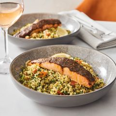 Booths Chermoula Spiced Salmon & Tabbouleh Salad Meal Kit