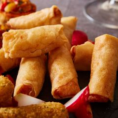 Booths Vegetable Spring Rolls with a Sweet Chilli Dip