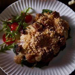 Booths Garlic Mushroom & Cheddar Gratin