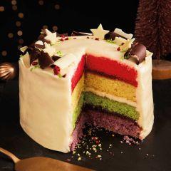 Lathams Festive Rainbow Cake