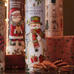Grandma Wild's Santa Christmas Pudding Biscuits