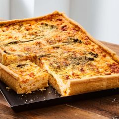 Toppings Rectangle Oak Smoked Salmon, Ricotta & Broccoli Quiche 1.3kg
