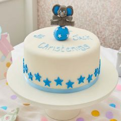 Christening Celebration Cake Humphrey Blue