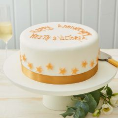 Elegant Gold Star Cake