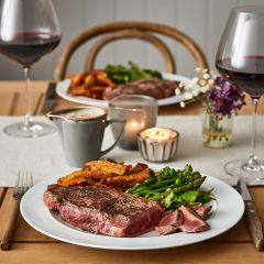 Booths Thick Cut Sirloin Steak & Diane Sauce Meal for 2